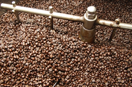 roaster: Roasting Coffee Beans Stock Photo