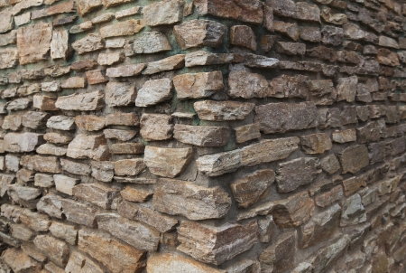 A detail photo of a corner of a  blank masonry stonewall  Stock Photo - 18083095