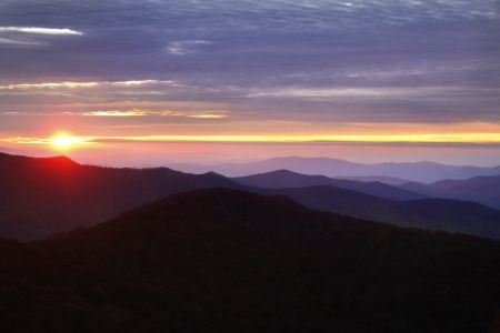 Sunrise view on the Blue Ridge Parkway  Stock Photo - 18134415