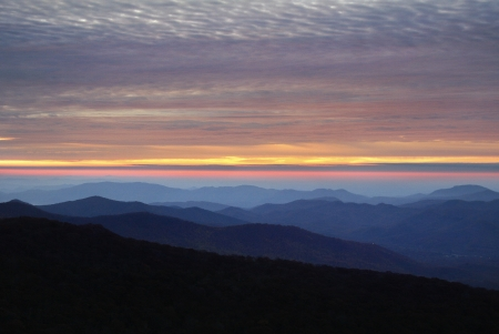 Sunrise on the Blue Ridge Parkway Stock Photo - 18134245