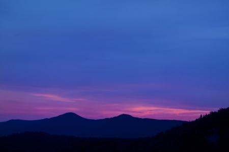 Blue Ridge mountain scene at dusk Stock Photo - 18134383