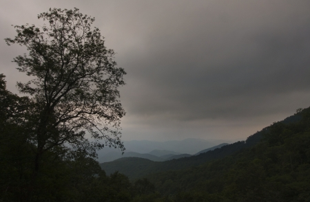 A stormy view on the Blue Ridge Parkway Stock Photo - 18134420