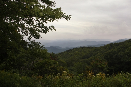 A overlook off the Blue Ridge Parkway Stock Photo - 18134417