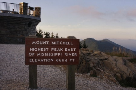 Summit of Mt  Mitchell the Highest point east of the Mississippi River