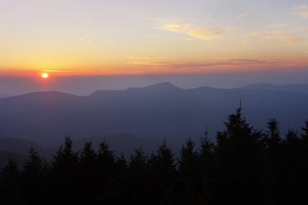 blue ridge: Sunset on the Blue Ridge Parkway