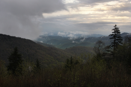 A stormy vista on the Blue Ridge Parkway Stock Photo - 18134371