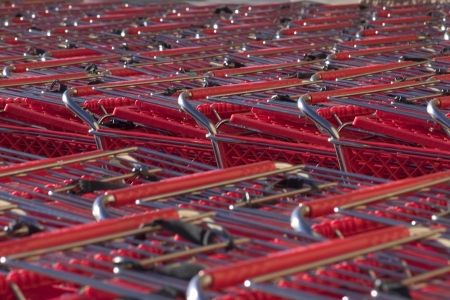 shopping buggy: An abstract view of shopping carts
