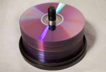 A stack of compact discs Stock Photo - 18651767