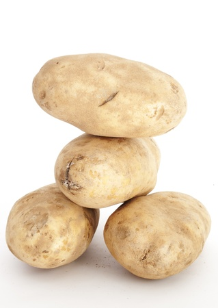 russet: A stack of Russet Potatoes Stock Photo