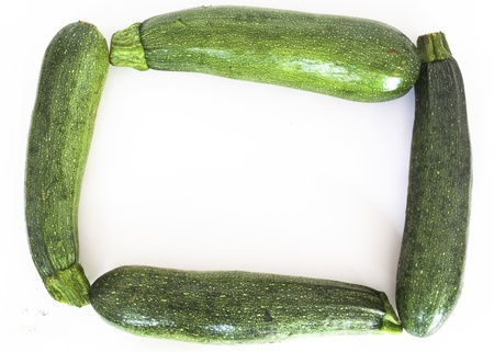 Zucchinis forming a rectangle shape