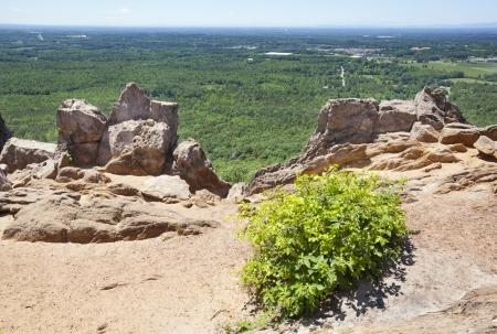 pinnacle: Kings Mountain Pinnacle presso Crowders Mountain State Park, nel Piemonte del North Carolina