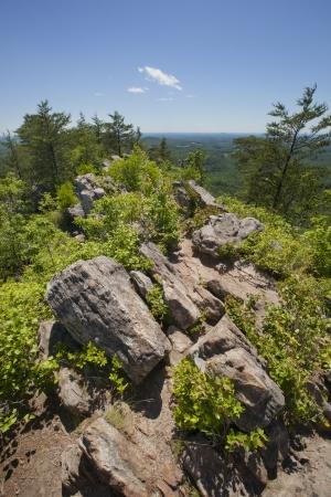 pin�culo: Kings Mountain Pinnacle en Crowders Mountain Park Estado en el Piamonte de Carolina del Norte