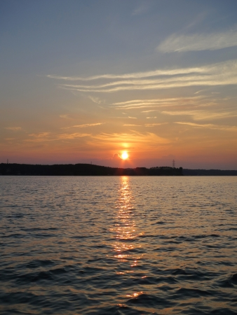 Sunset on Lake Norman in the Piedmont of North Carolina Stock Photo - 20386383