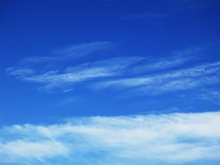 wispy cirrus clouds in a blue sky. Stock Photo - 20692436