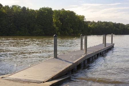A boat ramp on Lake Norman in North Carolina. photo