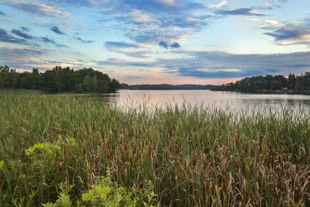 Dusk at Pontoosuc Lake in the Berkshires Hills of Western Massachusetts