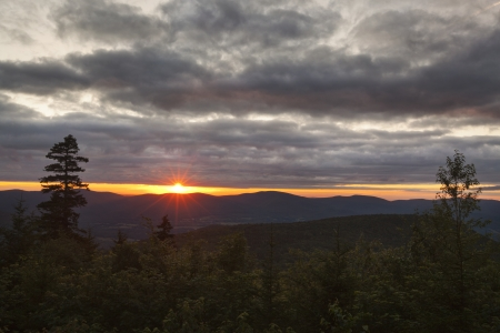 Sunset in the Berkshire Hills of Western Massachusetts, from an overlook on Mount Greylock