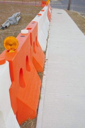 barrier: A construction barrier