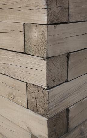 A corner of a wooden structure Banco de Imagens