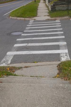 paso de cebra: Un paso de peatones