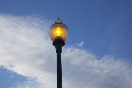 lamp post: A tungsten lamp post