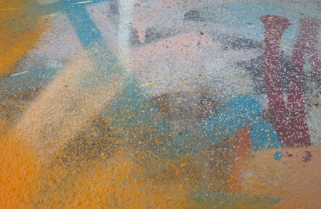 Colorful abstract detail of a spray painted surface