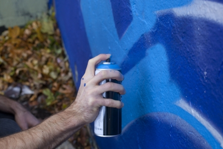 tagging: Hand Holding a Spray Paint Can