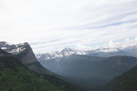 A scenic view in Glacier National Park in Montana