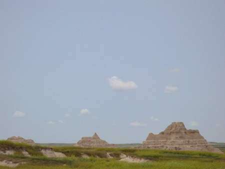 A scenic in the Badlands National Park, South Dakota.