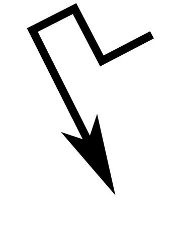 Un semplice freccia design nero Archivio Fotografico - 30676652