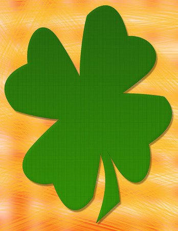 saint paddys day: A simple two dimensional four leaf clover background design.