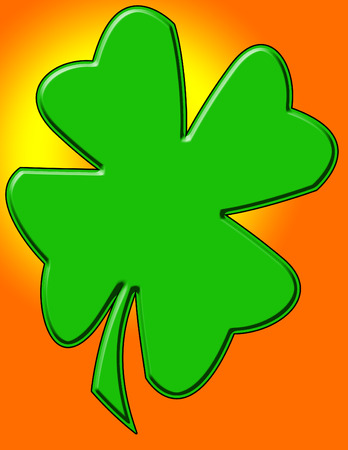 two dimensional shape: A simple two dimensional four leaf clover background design.