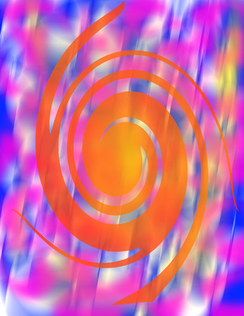 psychedelia: Abstract psychedelic spiral image