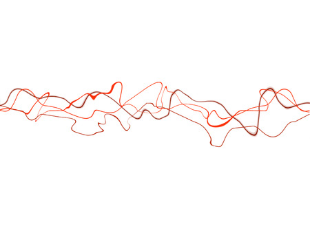 squiggly: Abstract background of red squiggly lines against white