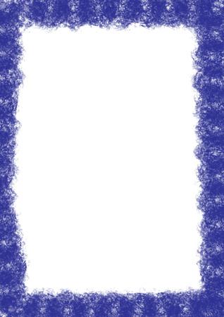sloppy: A messy blue background border