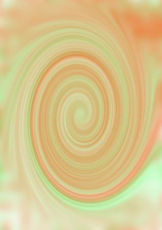psychedelia: A green and orange swirl design Stock Photo