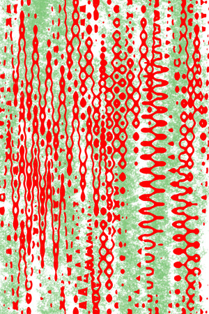psychedelia: A green and red background image Stock Photo