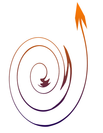 Am upward spiral arrow design photo