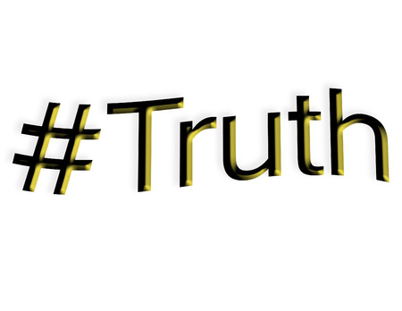 The word truth with a hash tag photo
