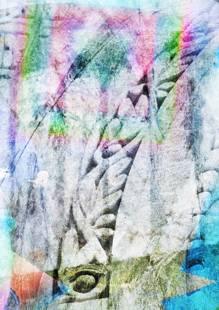 multiple exposure: A digitally altered multiple exposure background image Stock Photo