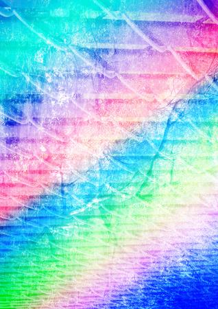 multiple exposure: Un'immagine esposizione multipla astratto colorato