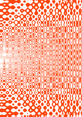 background: A wavy psychedelic red and white background image.