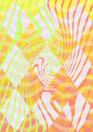 A colorful warm toned psychedelic background image. Stock Photo