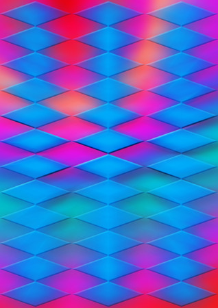 A colorful blurry psychedelic diamond shaped background.
