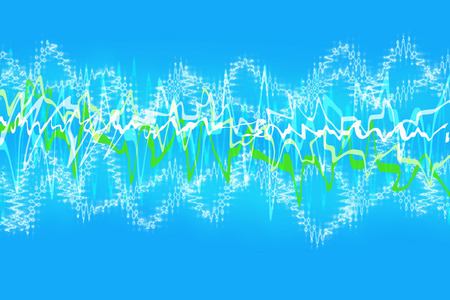 Abstract background of squiggly lines against light blue Imagens