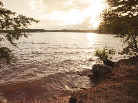 north carolina: Sunset on Lake Norman in North Carolina