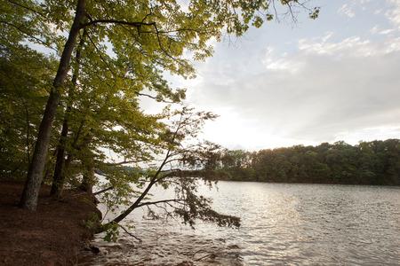 Tramonto sul Lago di Norman in North Carolina