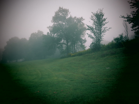 berkshire: A foggy morning view in the Berkshire Mountains of Western Massachusetts.