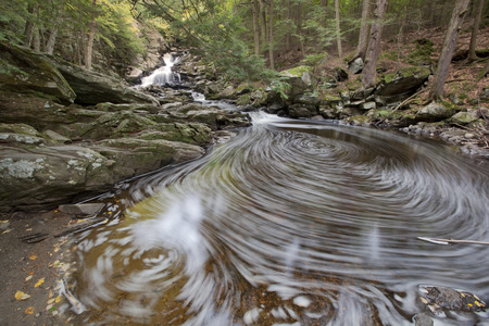 berkshire: A view of Wahconah Falls in the Berkshire Mountains of western Massachusetts.