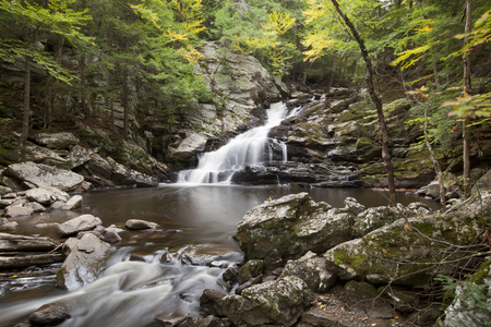 A view of Wahconah Falls in the Berkshire Mountains of western Massachusetts.